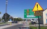 Hrubieszów: Rondo i ul. Łazienna w budowie (foto)