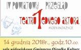 Modliborzyce: Teatry jednego aktora po raz czwarty
